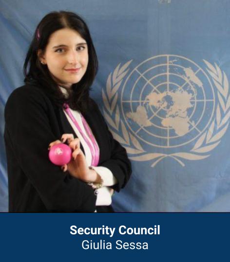Giulia Sessa - Security Council Chair