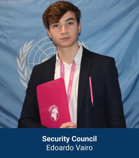 Edoardo Vairo - Security Council Chair
